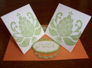 Double Twist Easel Card