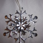 Metal Flashing Snowflake Ornament