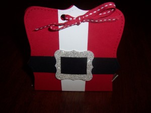 Santa Belly Candy Folder