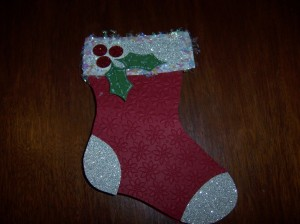 Stocking Gift Card Holder