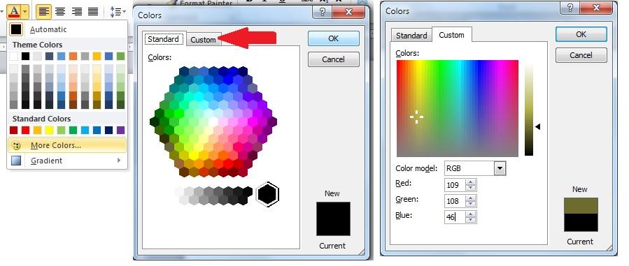 Using RGB Codes