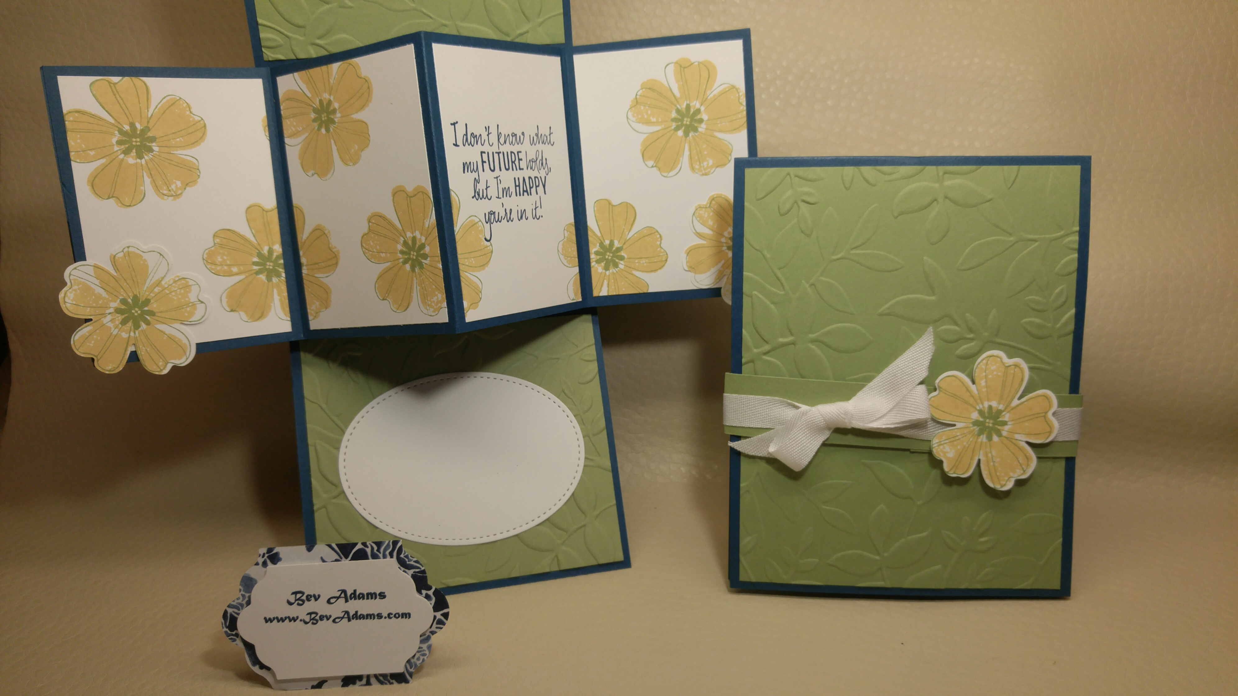 Just Add Text And Flowers Fold Out Card Bev Adams Independent