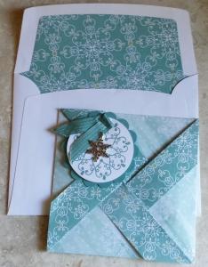 Pinwheel Letterpress Winter card