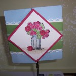 Diamond Fold Card with belly band
