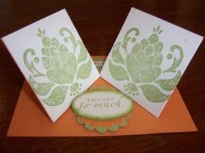 Double Twist Easel Card