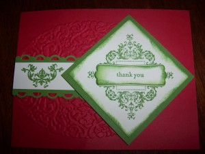 Flash Card - Christmas Affection Collection Thank You 12-8-12