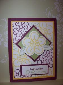 Flower Fest Diagonal Checker Background