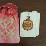 Glittered Lattice Muslin Bag