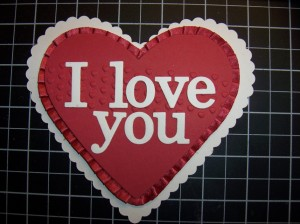 Heart Framelit Valentine