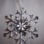 Metal Flashing Snowflake Ornament