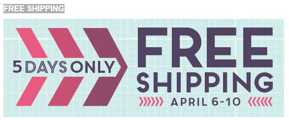 Free Shipping April 15